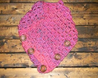 Crochet Chunky Button Cowl