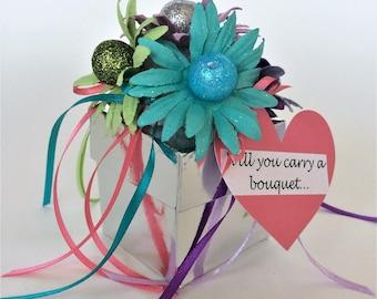 Confetti Bridesmaid Proposal. Cute Proposal Box. Gift for Bridesmaid. Bridesmaid Gift Idea. Confetti Flower Box. Cute Gift for Bridesmaids.
