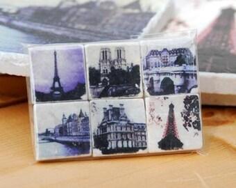 Paris Magnet Collection - set of 6