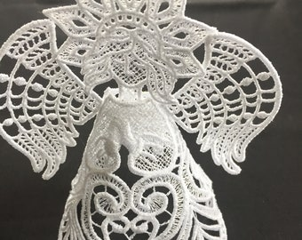 Free-Standing Lace Angel