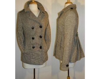 Women's coat, women's jacket, women's pea coat, ladies coat, vintage coat, business, professional, prep, collegiate, wool blend coat | L