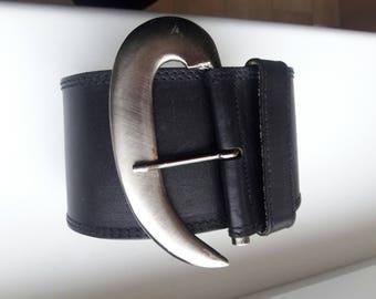 LAUREL Real Leather Black Waist Belt