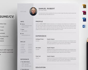 Resume | CV | Resume Template | CV Template | Cover Letter | Professional Resume | Instant Download