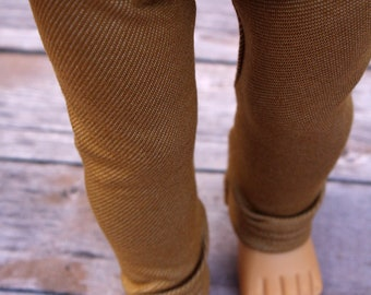 Fits like American Girl Doll Clothes - Khaki Jeggings | 18 Inch Doll Clothes