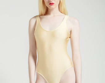 Nude Shine Perfect Cut One Piece Bathing Suit