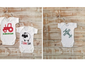 6-12 months Baby Clothes Sale - Brand New Bodysuits Ready to Ship - Reduced Price Baby Clothes - Discounted Baby Boy and Baby Gi