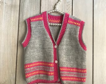 Grey Hand Made Chinese Minority Style Toddler Top