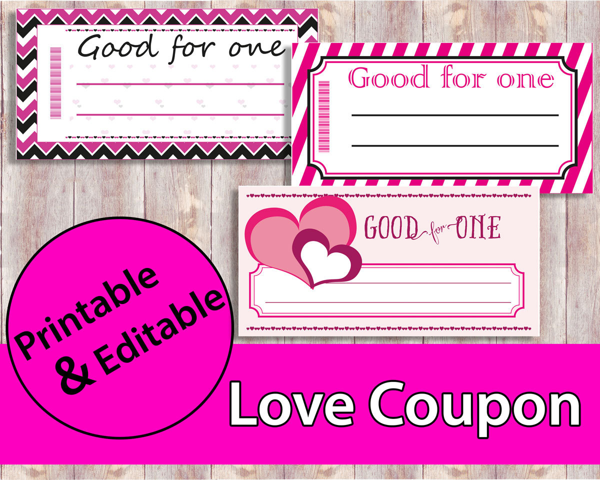 Love Coupon Love Coupon Book Printable Coupons Valentine