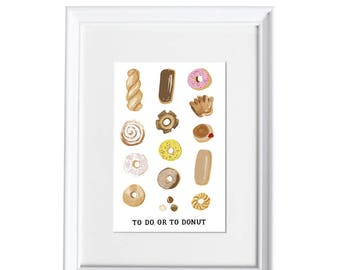 To Do, or to Donut Art Print