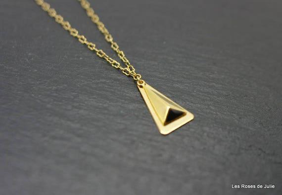 Anhänger-Dreieck Diagramm während vergoldet in Gold Emaille