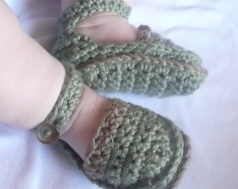 Baby Crochet Pattern - Baby Booties Shoes - Mini Moccasins