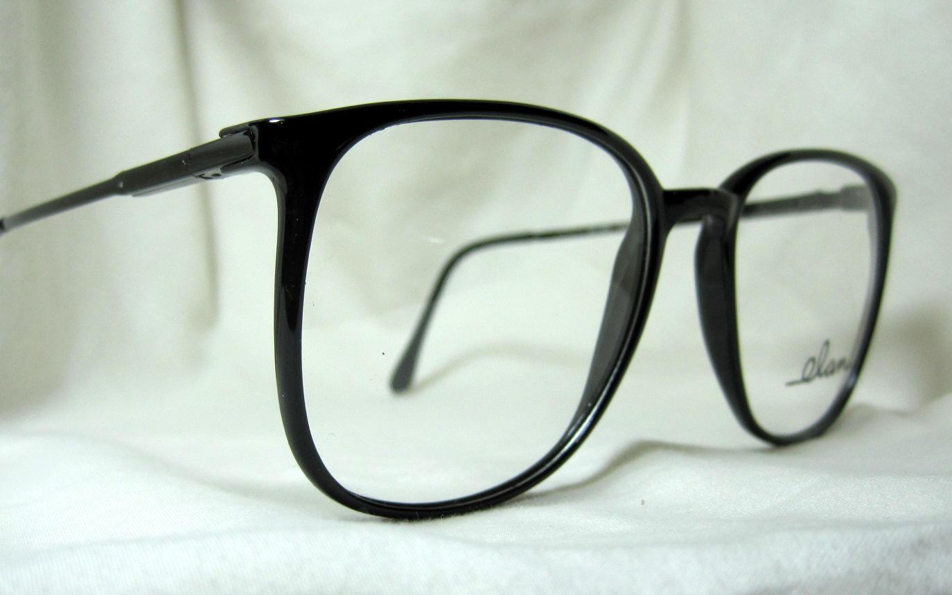 Vintage 80er Jahre übergroßen Brillengestelle. Große schwarze