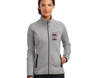 RN Nurse Heart Stethoscope  Jacket. Monogrammed Zip Up. New OGIO® ENDURANCE Ladies Origin Jacket. LOE503.