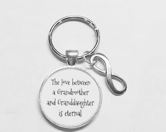 The Love Between A Grandmother And Granddaughter Is Eternal Grandma Infinity Gift Keychain