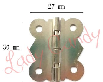 Hinged Butterfly jewelry box / chest Cabinet hinge Pivot hinge / #120040