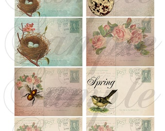TiffanyJane-Shades of Spring Collage sheet-Instant Download for art tags embellishments paper art