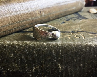 Sterling silver sycamore ring, sterling silver nature ring