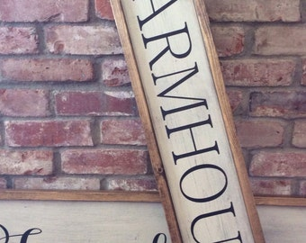 Farmhouse sign. Vintage farmhouse painted sign. Rustic. Fixer upper farmhouse style sign.