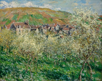 Flowering Plum Trees by Claude Monet, in various sizes, Giclee Canvas Print