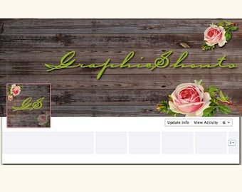 Premade Facebook Cover and Profile Avatar Set - Design Package