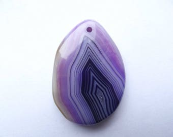 Tinted 417 lace oval agate pendant