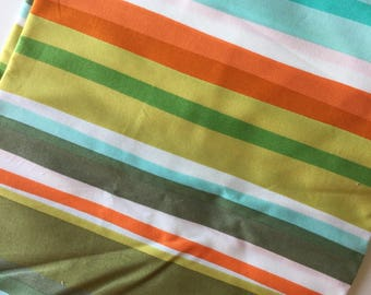 Follow Your Imagination By Prints Charming Stripes Fat Quarter Quilt Fabric Sewing Fabric Retro Fabric