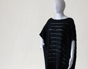 Summer pullover, Cotton poncho, cotton sweater, oversized poncho, womens pullover, womens tunic, black poncho, black pullover, summer poncho