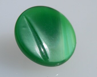 Vintage Green  Moonglow Button