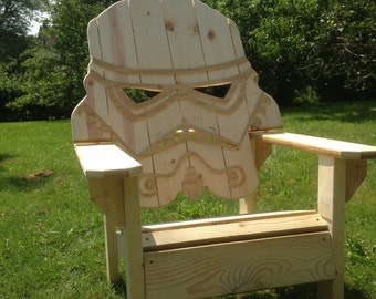 Darth Vader Adirondack Chair Painted Version Star Wars Themed