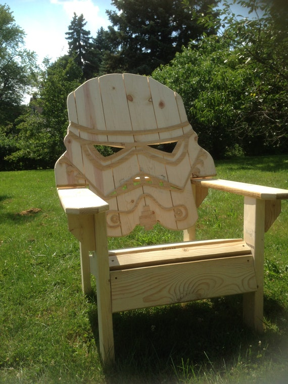 Inachevés star wars storm trooper chaise chaise Adirondack