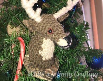 Mounted Buck Ornament Crochet Pattern