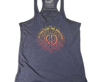 In The Sun, We Are One  Women's Racerback Tank