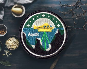 "The Aquatic Submarine Patch | Sew On | Embroidered | Patches for Jackets | 2.75"" (Free Shipping US)"