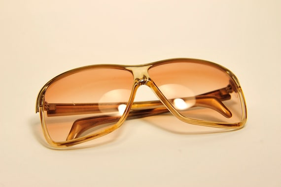 BALENCIAGA early 1970's square sunglasses