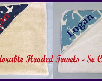 Anchor hooded towel etsy monogrammed hooded towel baby hooded towel personalized hooded towel monogrammed baby gift negle Image collections