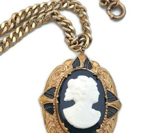 Art Deco Locket, Cameo Locket, Cameo Necklace, Antique Locket Necklace, Victorian Jewelry, Cameo Pendant, Antique Lockets, Locket Necklace