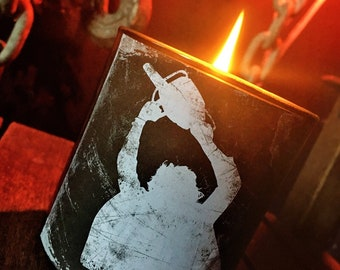 Wood Wick Texas Chainsaw Candle - Choose Your Sick Scent - Horror Candles