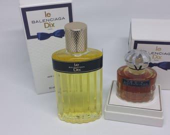 Vintage Balenciaga Le Dix 50ML EDT+15ML Pure Parfum Rare and Discontinued