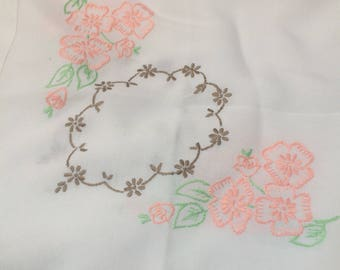 Embroidered tablecloth approx 85cm x 85cm