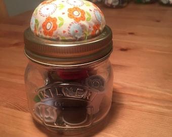 Sewing Pin Cushion Jar Starter Kit