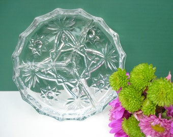 Vintage 3 - Part Relish Dish - EAPC - Early American Prescut Pattern by Anchor Hocking