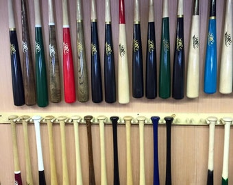 A fully customized MAPLE LITTLE LEAGUEwood bat including length, colors, personalization, and model - Game ready bat