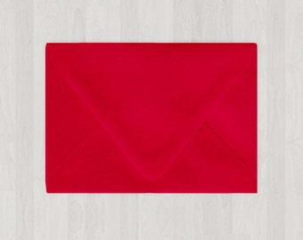 10 A6 Envelopes - Euro Flap - Red - DIY Invitations - Envelopes for Weddings and Other Events