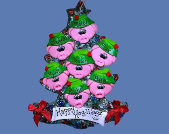 Pig Elf (7) ornament Family tree