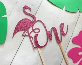 Flamingo Cake Topper, Flamingo One Cake Topper, Flamingo Party