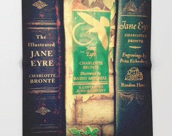 Jane Eyre Throw Blanket: Bedding, dorm, books, library, Bronte