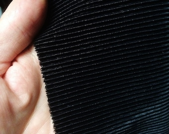 """45"""" wide Black Pleated Stretch Fabric 2 yards Free Shipping"""