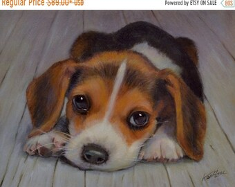 On Sale Pet portrait, Custom Pet Painting From your Photo, Oil Painting Portrait ON CANVAS UNSTRETCHED (not framed)