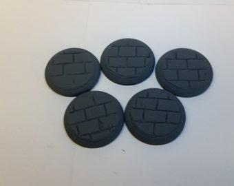 40mm Miniature base Cut Stone pattern 5 bases.