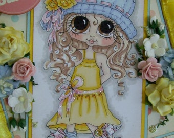 INSTANT DOWMLOAD Digital Digi Stamps Big Eye Big Head Dolls Digi  My Besties IMG061 By Sherri Baldy